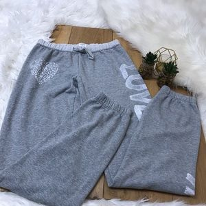 Victoria's Secret Pink Gray Sweat Pants #1026
